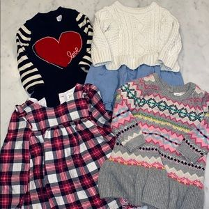 4 Baby Gap Fall Dresses, 12-18M, Like New!